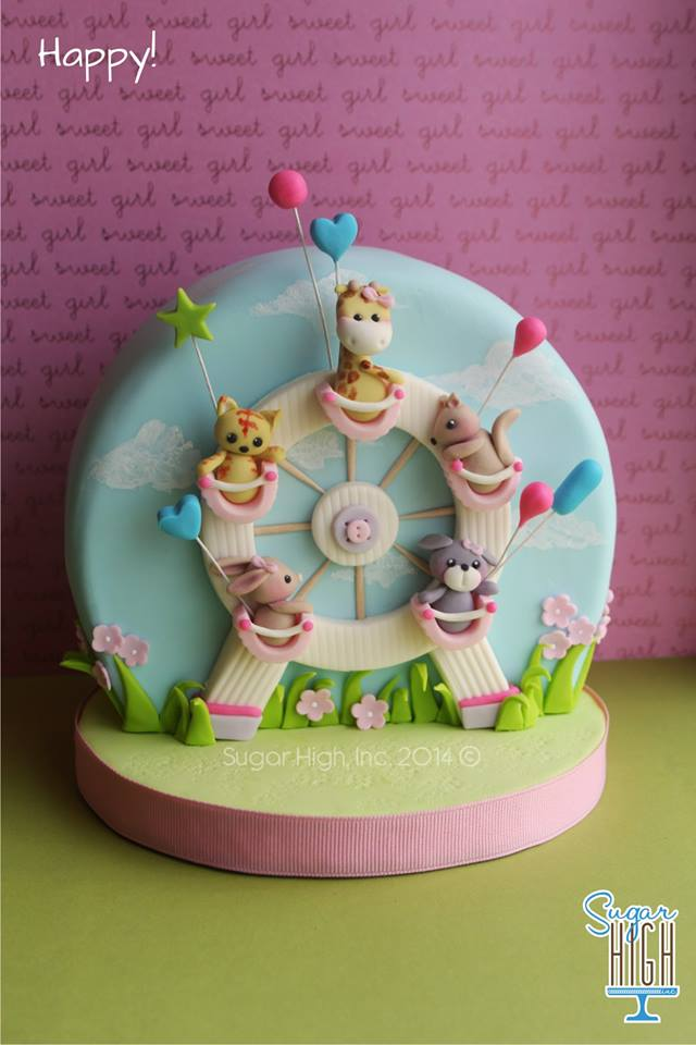 That Cute Little Cake Pin Of The Week Ferris Wheel Cake By Sugar