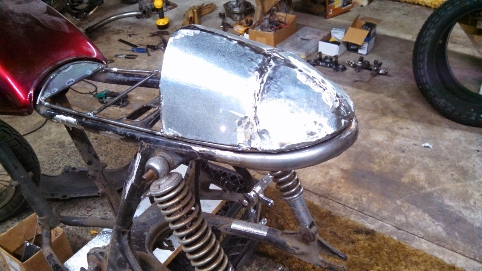 Love Brews In WA Building A Cafe Racer Seat