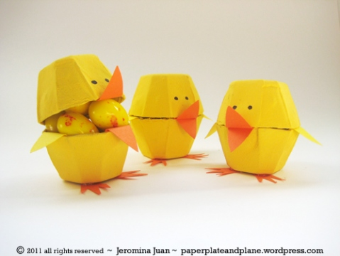 Easter Chick Egg Carton Cup Craft | Preschool Education for Kids