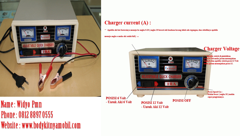 Rayden Charger Accu 10Ampere