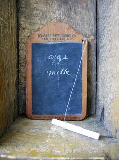 antique memo board