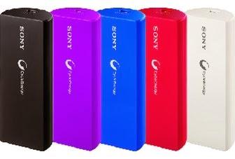 USB Portable Power-Bank with Extra Capacity of 2800mAh: SONY CP-V3