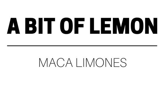 a bit of lemon