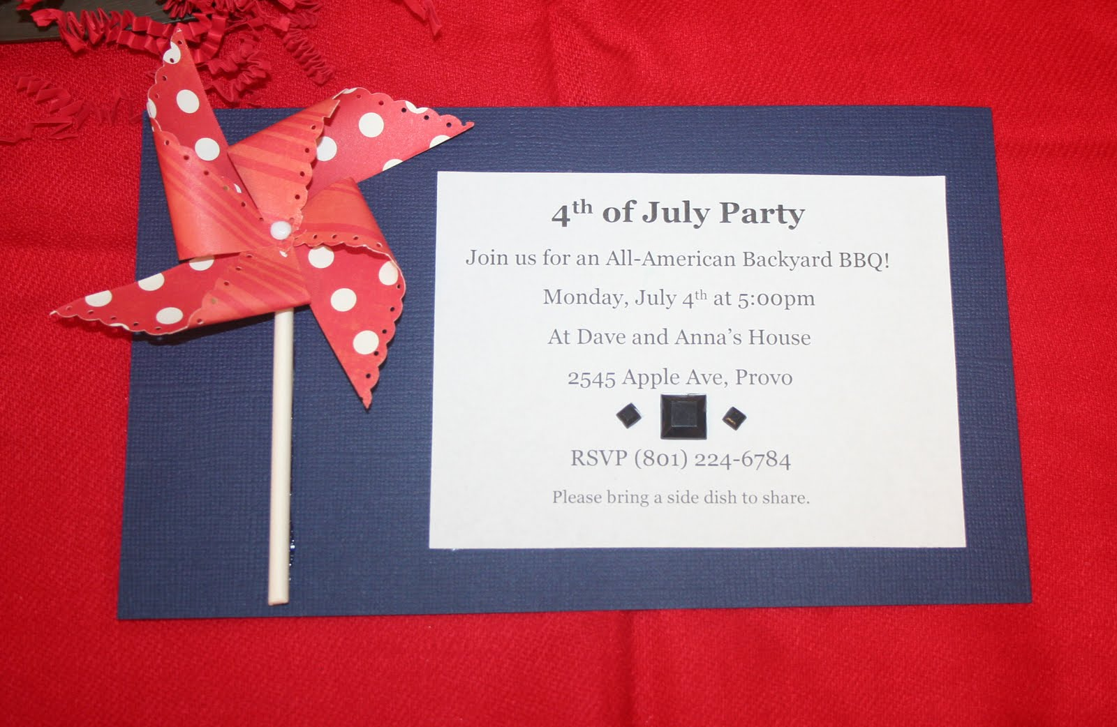 Oh My Crafts Blog: 4th of July Party Invitations