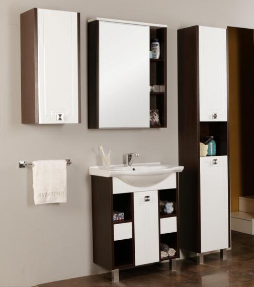 Новые коллекции мебели Акватон Лиана и Крит для ванной комнаты
