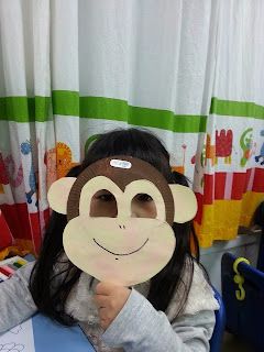 ... on the paper plate. Then I cut out the holes for the eyes and attached a popsicle stick to it. Voila! we have our fun and easy to make monkey mask !!! & Karenu0027s Kindy Life: Thematic Unit- Pets