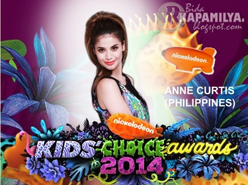 Anne Curtis Nominated at Nickelodeon Kids' Choice Awards 2014