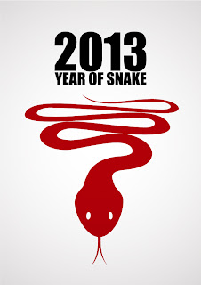 干支の蛇のイラスト cartoon and stylized snake illustrations 2013 New Year  イラスト素材3