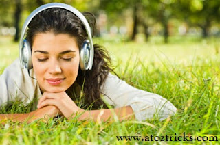 Reduce sound volume.listening music