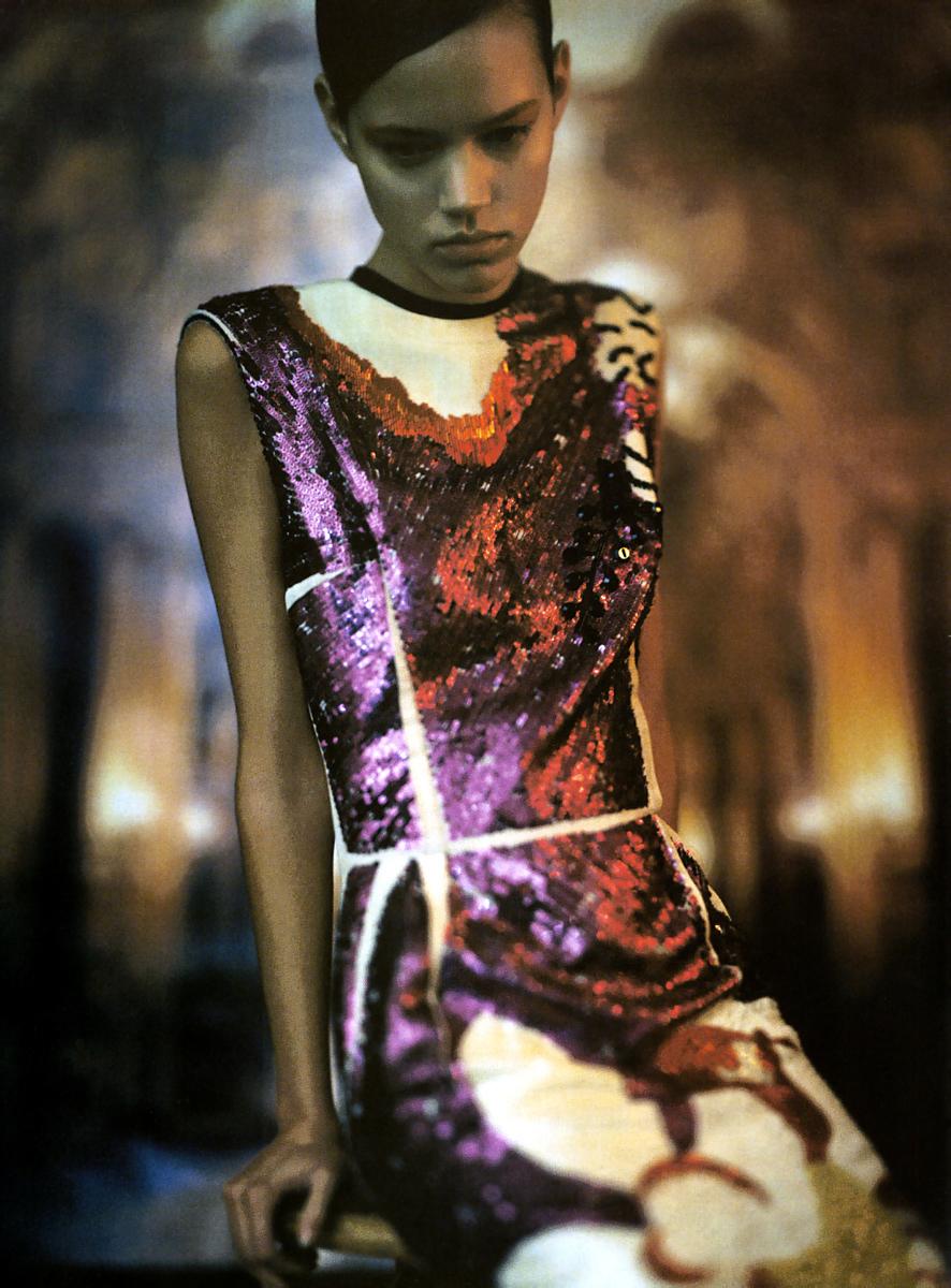 Freja Beha in Lanvin by Alber Elbaz in Vogue Italia April 2006 (photography: Steven Meisel, styling: Edward Enninful)