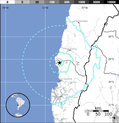 Epicentro terremoto Chile, 14 de Noviembre 2012