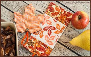 прихватки осень, кухонный натюрморт