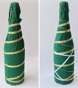 Как украсить бутылку шампанского на Новый год своими рукам