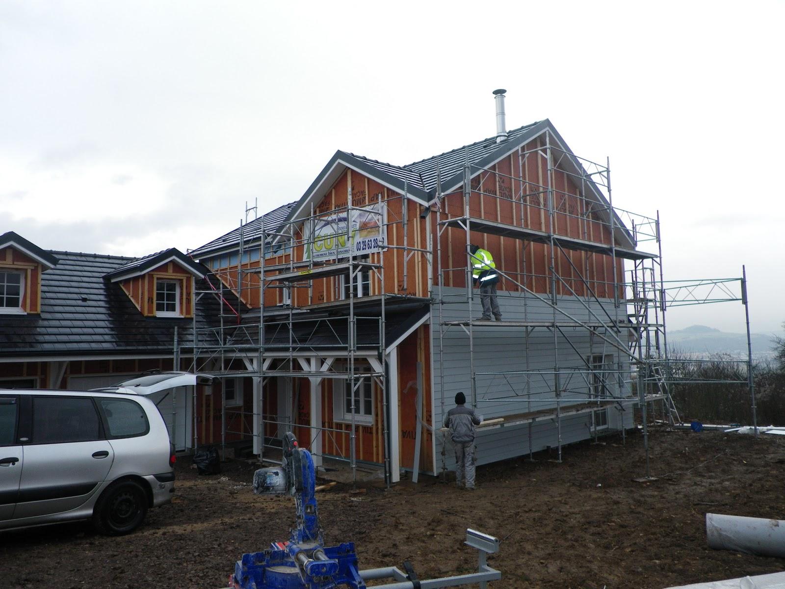 Construction de notre maison bardage ext rieur - Bardage exterieur sans entretien ...