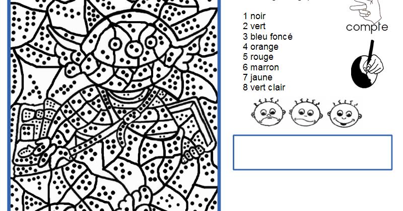 Maternelle coloriage magique le petit ogre - Coloriage magique loup ...