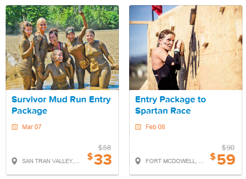 Reduced entry fees for mud run and spartan race