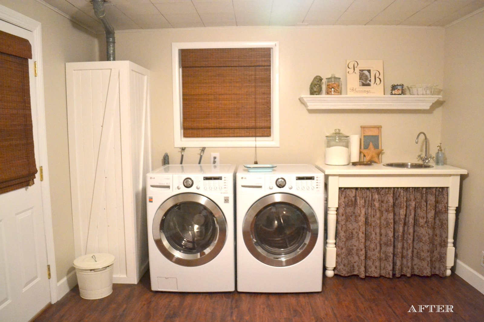 our laundry room is finally complete at least the laundry side of