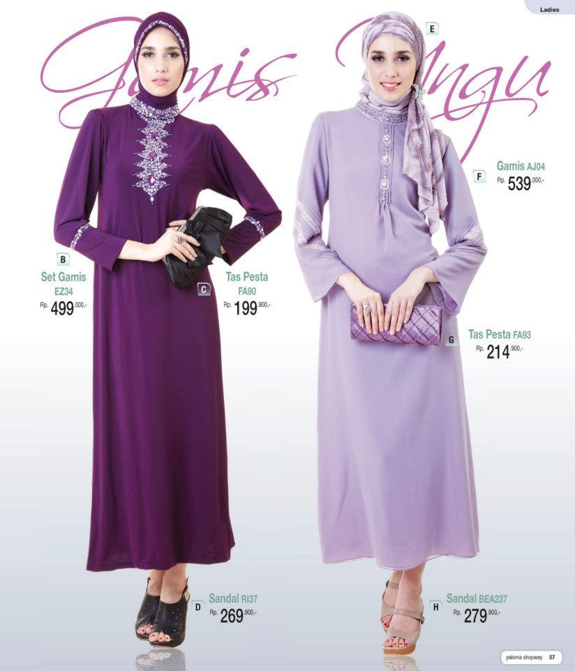 Busana gamis muslim modern terbaru dan baju atasan murah Baju gamis pesta muslim