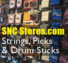 Guitar String, Picks and Drum Sticks