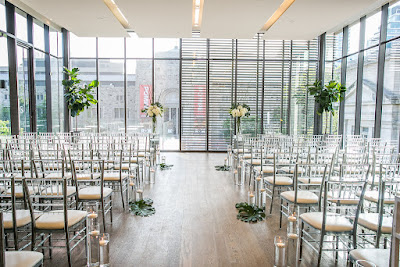 Modern Botanical Wedding Ceremony