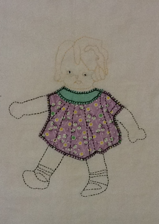 Quilts-Vintage and Antique: Doll Applique Block Pattern