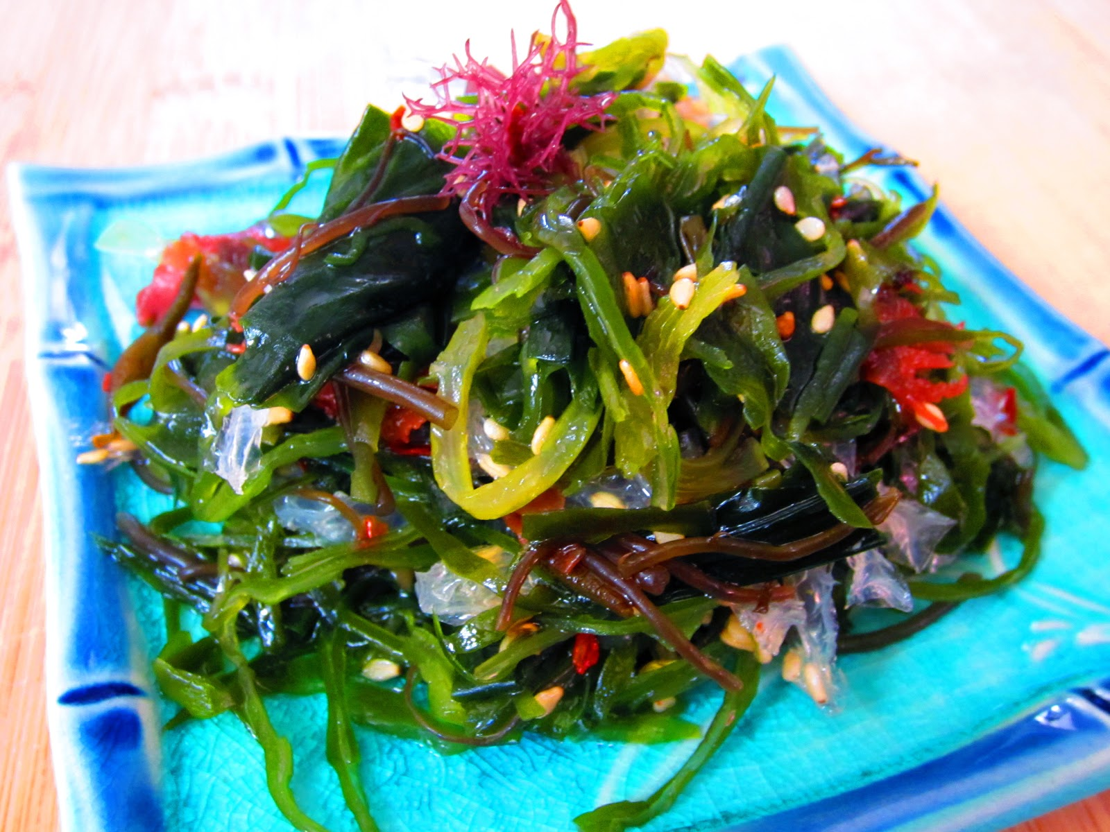 How to prepare a salad of seaweed