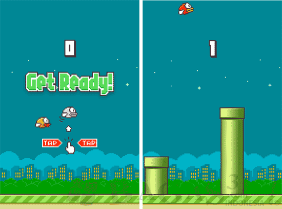 Flappy Bird for Android (Mod) Tanpa Pipa Atas