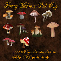 Fantasy mushroom pack PNG tubes