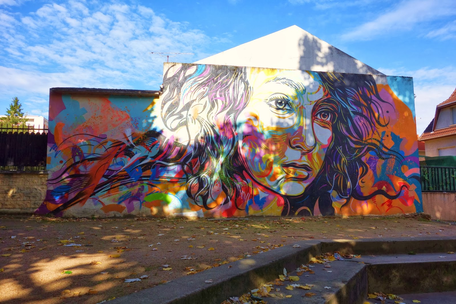 Sunday street art c215 rue camille groult vitry sur seine paris la douce - Piscine avec pente douce vitry sur seine ...