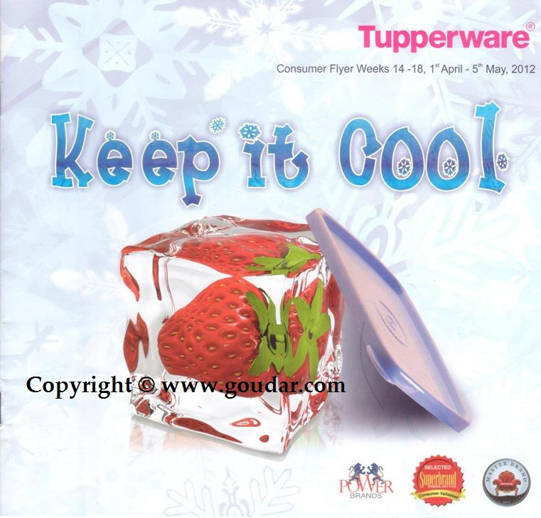 Here is the Tupperware Flyer - Offers for the month of April 2012