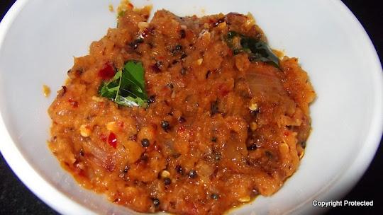 Tomato chutney, thakkali chutney