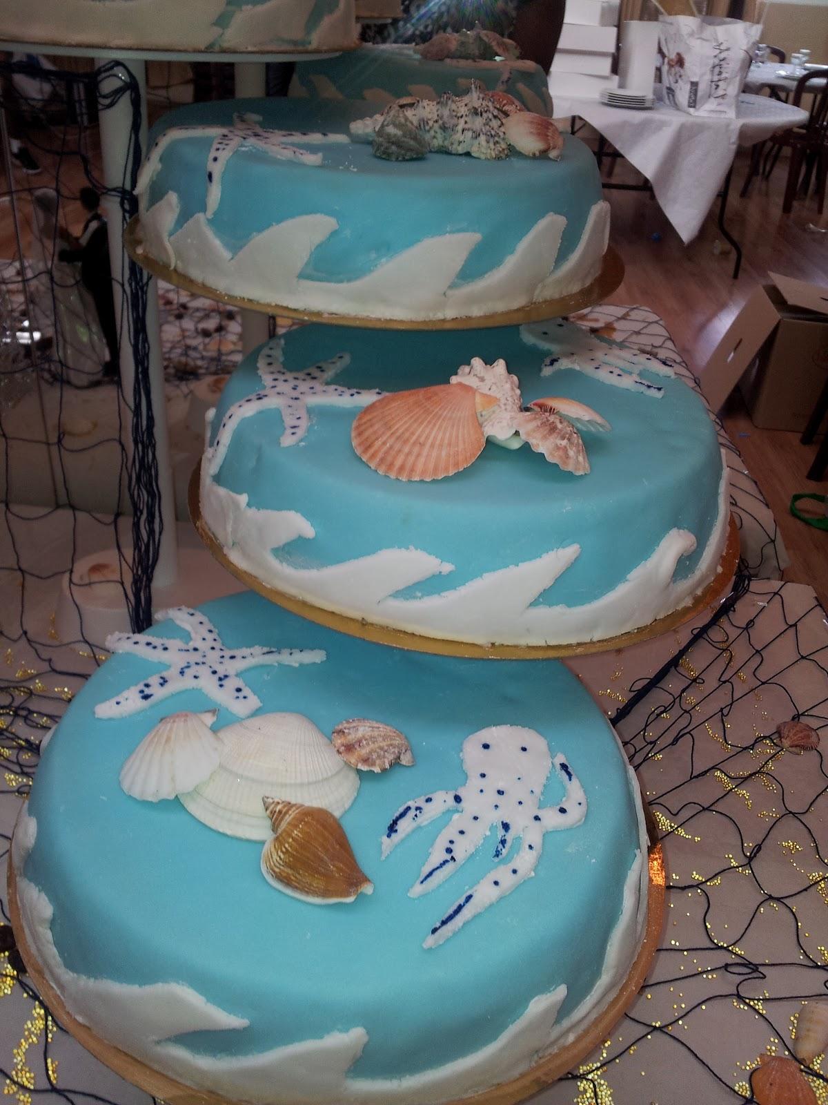 La Pâtisserie de Brunette: Pièce montée sur le thème de la mer