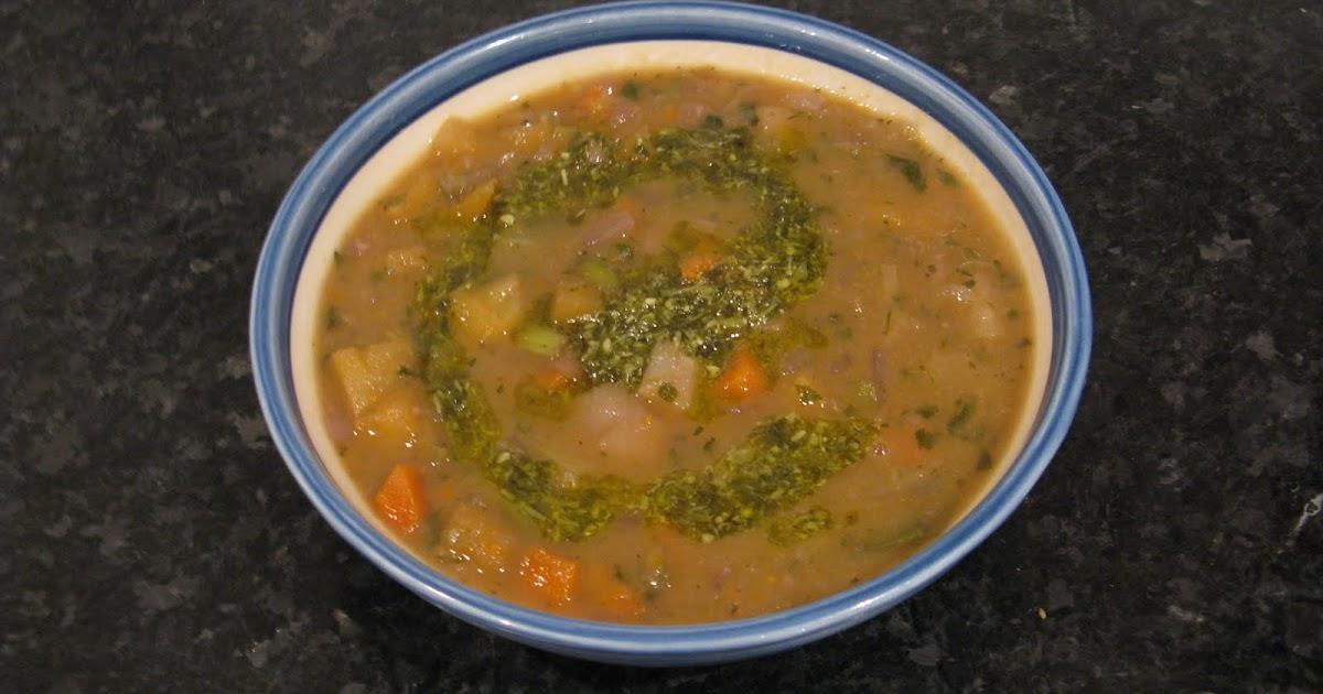 Chef Mel's Kitchen: Recipe: Autumn Vegetable Soup with Pesto