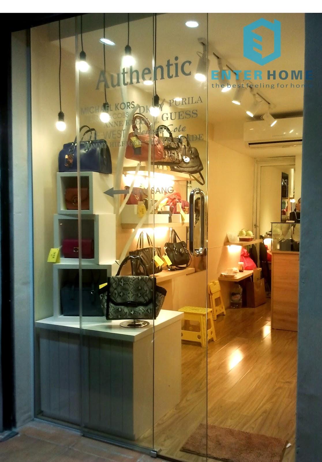 Thi công nội thất cửa hàng 203 Kim Mã