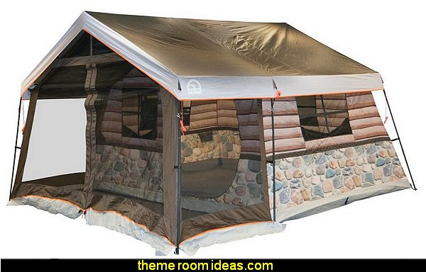 Log Cabin Lodge Tent and Screen Porch