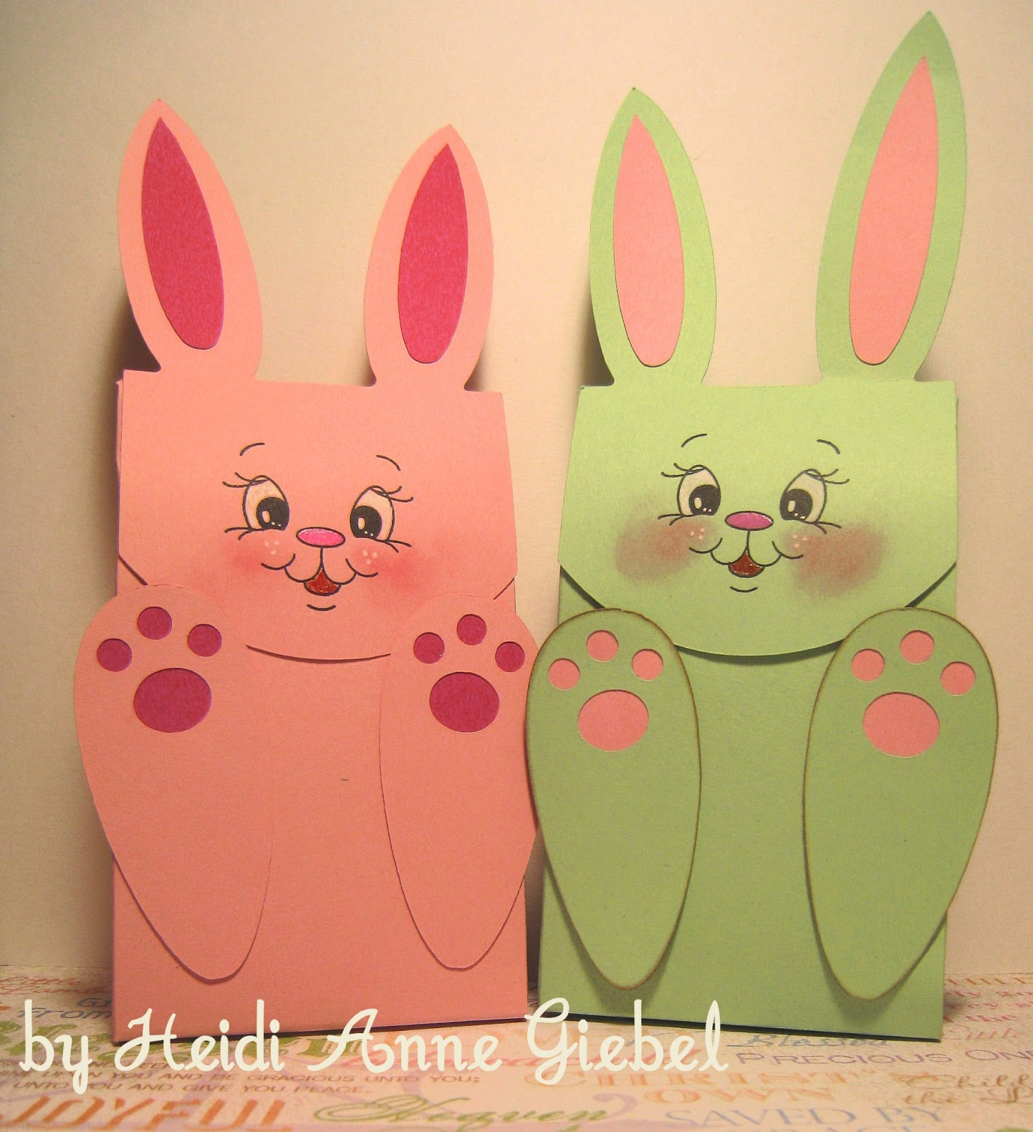 Got scraps easter bunny gift bags easter bunny gift bags negle Images