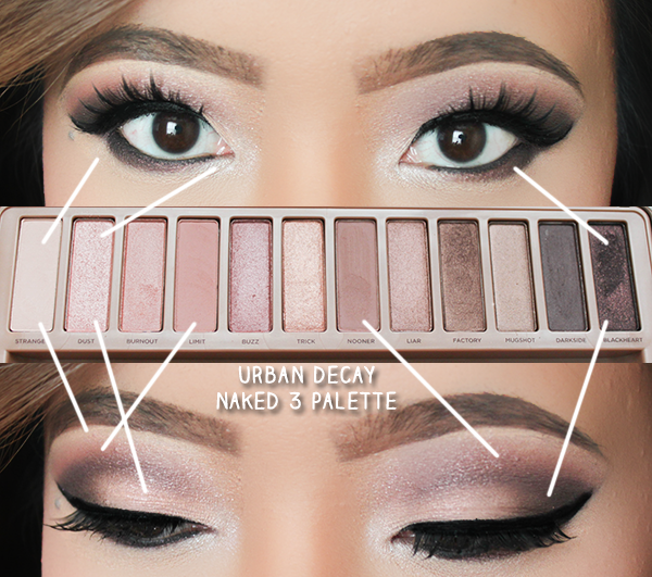 leslie loves makeup urban decay naked 3 smokey look leslielovesmakeup. Black Bedroom Furniture Sets. Home Design Ideas