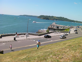 slopes of plymouth citadel and harbour with drakes island
