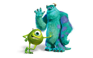 Mike Wazowski and Sullivan Monsters University HD Wallpaper