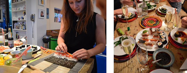Sushi Night at Hen Do House In Hamshire
