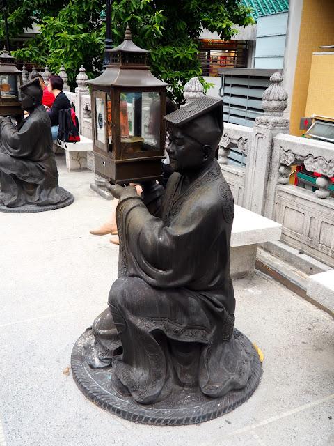 Lantern statue outside Sik Sik Yuen Wong Tai Sin Temple, Hong Kong