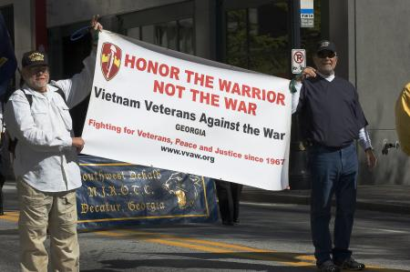 Vietnam Veterans Against the War at 2009 Atlanta Veterans Dav Parade. Photo by David Howell.