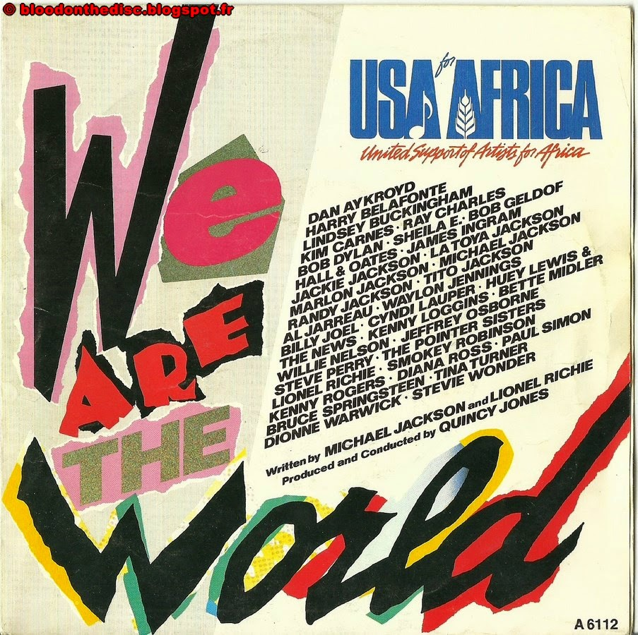 We Are The World 45T Front Cover