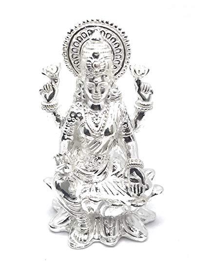 Ezüst Lakshmi szobor