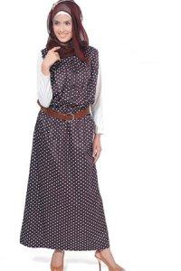 Manet Gamis 3227 - Coklat Tua (Toko Jilbab dan Busana Muslimah Terbaru)