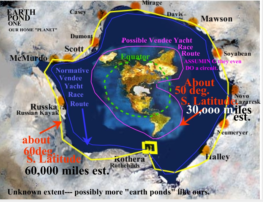 Rick potvins virtual circumnavigation of antarctica to decide if flat earth map complete with vendee race course and science stations with airports along with my complete planned virtual route scroll down gumiabroncs Gallery