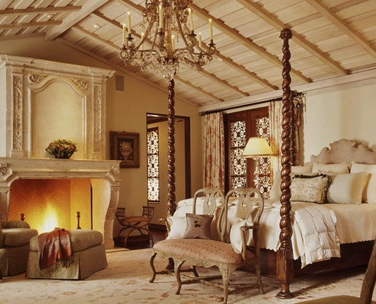 Warm Cozy Bedroom with Fireplace 542 x 439