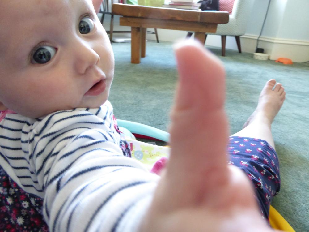 Matilda reaching for the camera