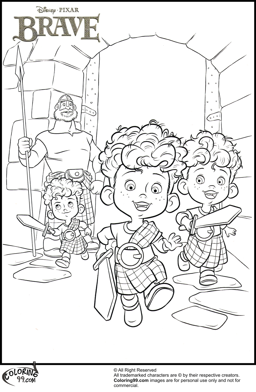 disney princess coloring pages brave - november 2013 team colors