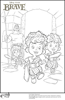 disney brave three little princes coloring pages